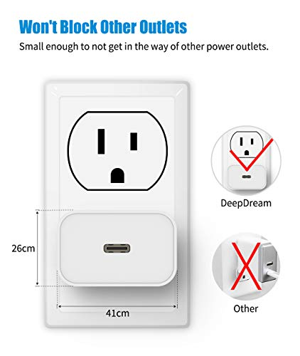 iPhone Fast Charger, DeepDream 2 Pack 20W USB C Power Adapter Wall Plug,Mini PD Charger Block Type C Power Delivery 3.0 for iPhone 12/12 Mini/12 Pro/SE/11/Max/XS/XR/8, Galaxy, iPad Pro-White