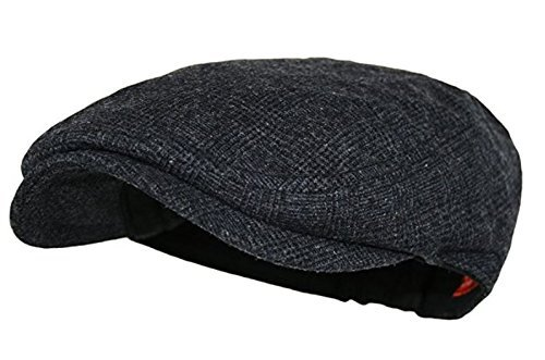 Wonderful Fashion Men's Classic Herringbone Tweed Wool Blend