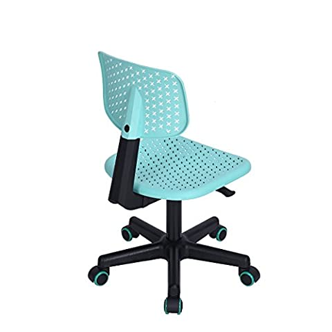 HouseinBox Furniture Hollow Star PatternMid Back Adjustable Home Office Children Desk Chair,Turquoise