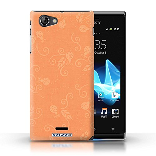 Etui / Coque pour Sony Xperia J (ST26i) / Pêche conception / Collection de Motif Coccinelle