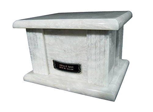 Star Legacy s Classic White Large Marble Adult Funeral Cremation Urn for Human Ashes