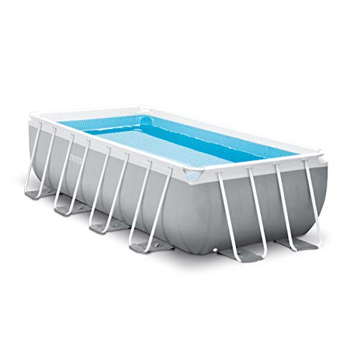 Intex 16ft X 8ft X 42in Prism Frame Rectangular Pool Set with Filter Pump, Ladder, Ground Cloth & Pool Cover (Summer Escapes 15 X 42 Pool Pump)