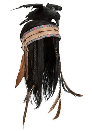 Disney Official The Lone Ranger Deluxe Tonto Wig Headdress -