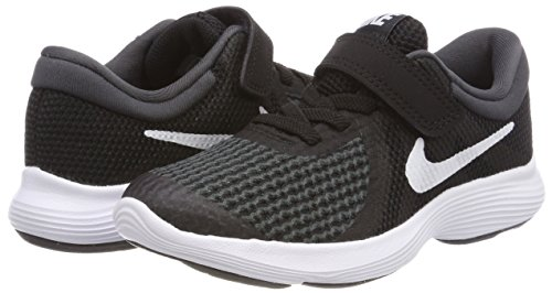 Nike Boys' Revolution 4 (PSV) Running Shoe Black/White-Anthracite 2Y Youth US Little Kid by Nike (Image #5)