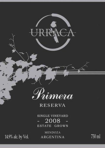 2008 Urraca Vineyards Agrelo Primera Reserva Red Blend 750 mL (Cabernet Sauvignon Argentina)