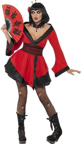 Disfraz de geisha gótica Halloween - S: Amazon.es: Ropa y accesorios