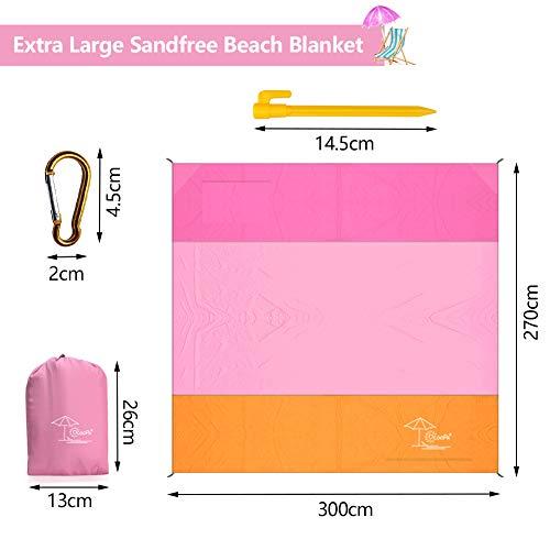 Beach Blanket Tempest Musical: OCOOPA Sandfree Beach Blanket 10'X 9' Extra Large, Soft