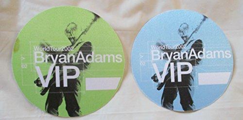 2 2002 Brian Adams Satin Backstage Pass World Tour V.i.p.s Blue & (Adam Satin)