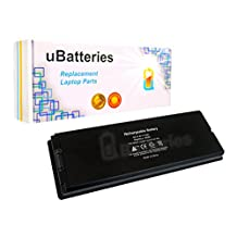 """UBatteries Laptop Battery Apple MacBook 13"""" & 13.3"""" (2006-2009) A1181 A1185 - 6 Cell, 55Whr (Black)"""
