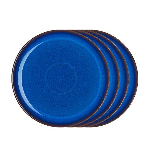 - Denby IMP-003B/4 Imperial Blue Set of 4 Coupe Dinner Plate Set, One size, Cobalt