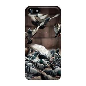 New A Flock Of Pigeons Tpu Case Cover, Anti-scratch CnWQmLq4847TkyNO Phone Case For Iphone 5/5s