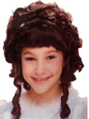 Girls Glamorous Princess Wig long brown ringlets Braid by Disguise