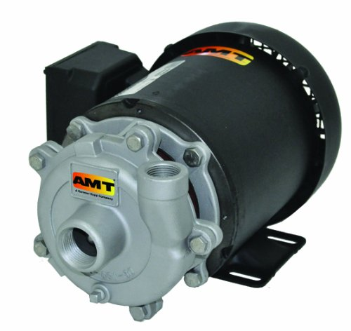 AMT Pump 368C-98 Straight Centrifugal Pump, Stainless Steel, 1/2 HP, 3 Phase, 230/460V, Curve B, 3/4