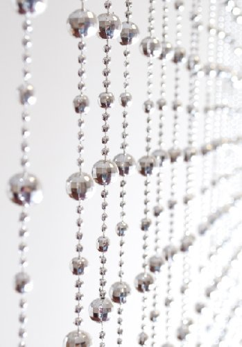 Silver Beaded Door Curtain By Country Club