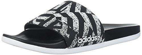 Adidas Performance Women Adilette Cf + Link Gr W Sandalo Centrale Nero / Bianco / Nero