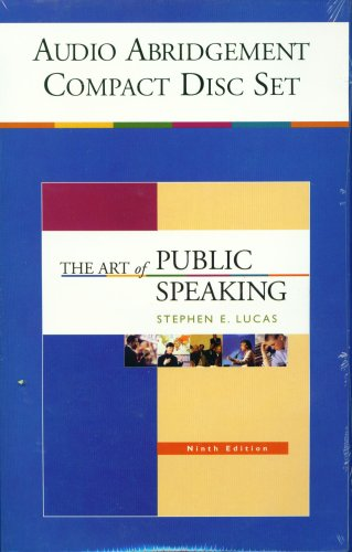 the-art-of-public-speaking-9th-edition-audio-abridgement-compact-disc-set