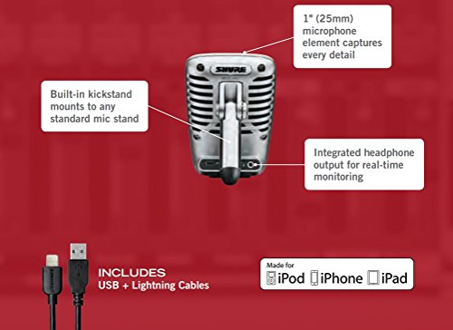Shure MV51 Digital Large-Diaphragm Condenser Microphone + USB & Lightning Cable by Shure (Image #7)