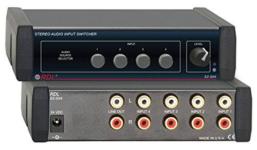 RDL EZ-SX4 Stereo Audio Input Switcher by RDL