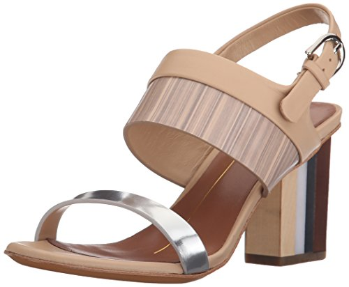Lola Cruz Women's Stacked Heel Sandal Plata cheap largest supplier KWYGW9