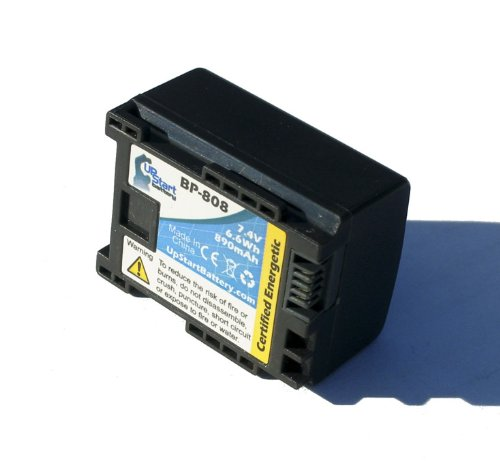 Replacement for Canon FS200 Battery - Compatible with Canon BP-808 Digital Camcorder Battery (Decoded 890mAh 7.4V Lithium-Ion)