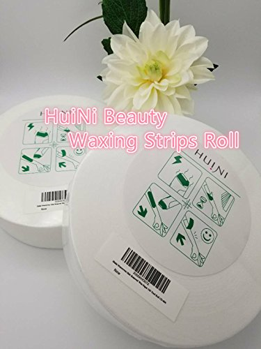 Huini 100 Yards Hair Removal Depilatory Nonwoven Epilator Wax Strip Paper Waxing Roll