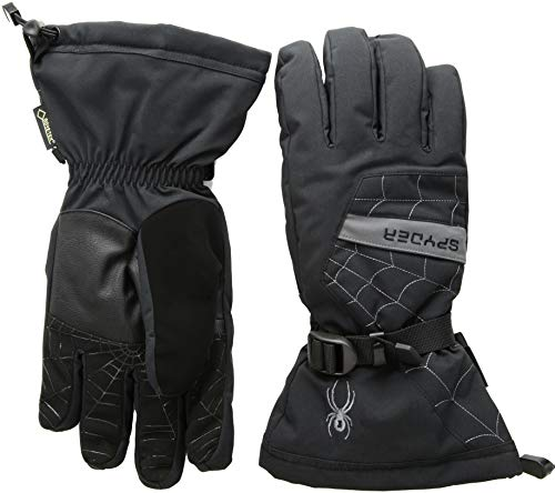 Spyder Active Sports Men's Overweb Gore-tex Ski Glove, Black/Polar, Medium