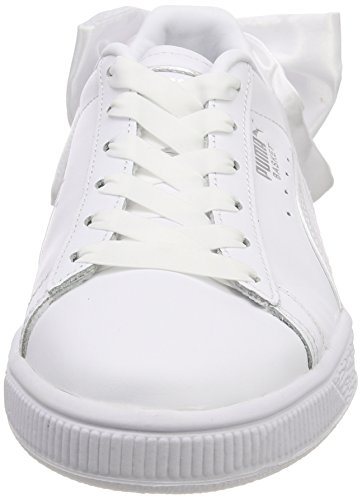 White WN's Puma Trainers Puma Basket puma Bow White Women's tFFTq8