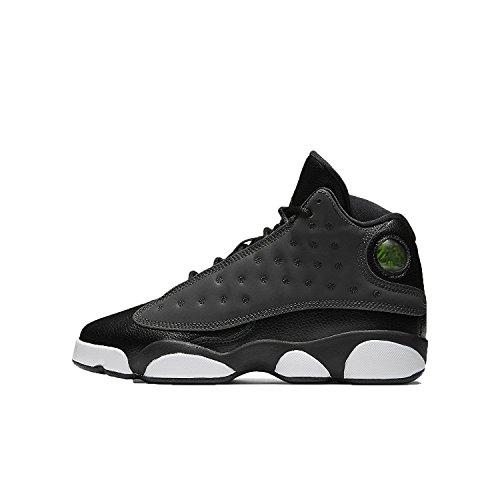 Jordan Nike Kinder Air 13 Retro BG Basketballschuh Schwarz / Anthrazit-Anthrazit