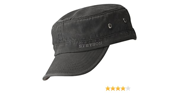 dd7d7abe026 Stetson Datto Military Cap at Amazon Men s Clothing store