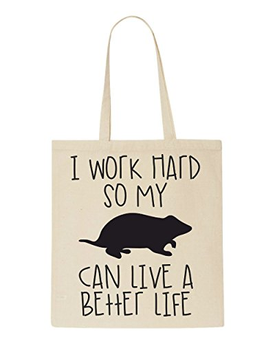 Bag Tote Natural Animal Sub Hamster Work Themed So Have My Life Sublimation I Funny Hard Better Shopper A Cute Can wT7afH