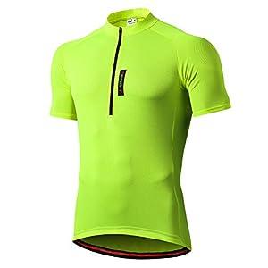 41uKBAdhmRL. SS300 FEIXIANG Maglia Ciclismo Maniche Corte, Maglietta Mountain Bike Uomo Asciugatura Veloce T-Shirt off-Road Sportswear…