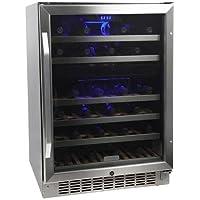 EdgeStar CWR461DZ 24 Inch Wide 46-Bottle EdgeStar Built-In Dual-Zone Wine Cooler