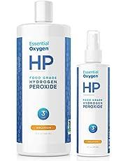 Essential Oxygen Food Grade Hydrogen Peroxide 3%, Natural Cleaner