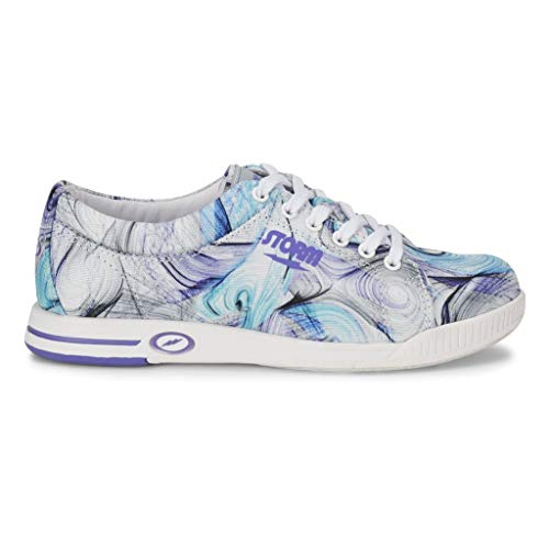Storm Womens Meadow Bowling Shoes- White/Purple/Multi 10 M US ()