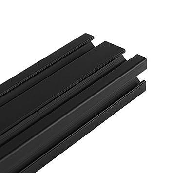 Marco de extrusi/ón de perfiles de aluminio en T color negro anodizado 800 mm de longitud Faway 2040