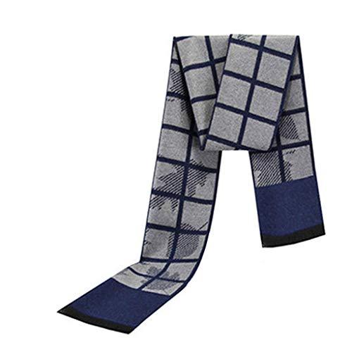 予約原子仮定、想定。推測メンズスカーフ冬の暖かさヤングマンストライプスカーフ (色 : B)