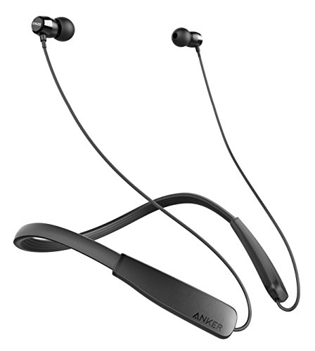 Ancker SoundBuds Rise Outdoor Activity Style Sports Bluetooth Wireless In-Ear Earbuds with Lightweight Neckband Headset, IPX5 Water Resistant Earbud Headphones with Built-in Mic (Non-Retail Packaging) ()