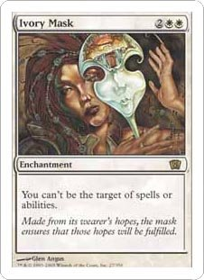 Ivory Mask (Magic the Gathering : 8th Edition #27 Rare)