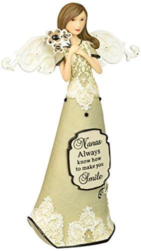 (Pavilion Gift Company Modeles 88121 Angel Figurine Holding Flowers, Nana, 7-1/2-Inch)