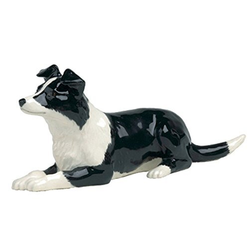 John Beswick Dog Border Collie Lying Down by John Beswick