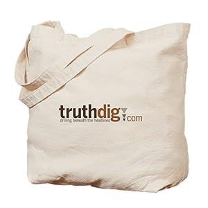 CafePress - Truthdig - Natural Canvas Tote Bag, Cloth Shopping Bag from CafePress