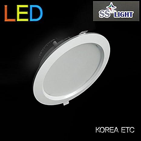 Ss luz LED 15 W 6500 K lámpara de techo foco lámpara de techo interior habitación - 6 inch, fabricado en Corea: Amazon.es: Iluminación