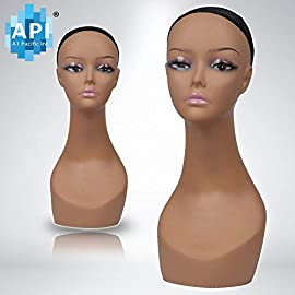 18″ Female Life Size Mannequin Head for Wigs, Hats, Sunglasses Jewelry Display PD3R-24