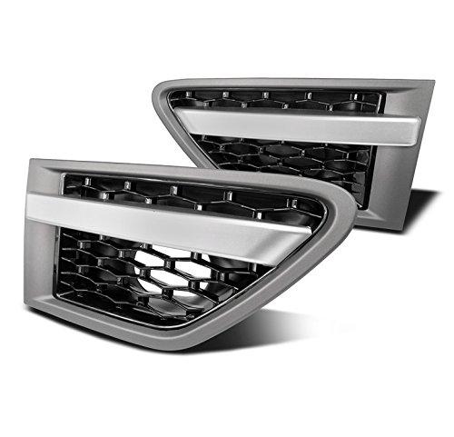 ZMAUTOPARTS Land Rover Range Sport Side Fender Air Vent Grille Grey/Black Mesh Set -