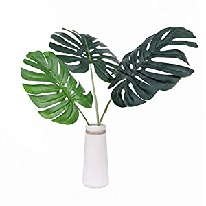 Olivachel Artificial Tropical Monstera Leaves Faux Palm Tree Leaf Plant Leaves for Home Kitchen Party Decorations 61
