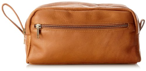 David King & Co. Small Double Zip Shave Kit, Tan, One Size David King Tan Briefcase