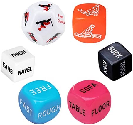 Funny Romantic Role Playing Dice Party Dice Game Dice,Gift for Valentine's Day, Hen Party, Honeymoon, bacherette Party,Him and Her, Bridal Shower, Groom Roast,Newlyweds, Wedding, Anniversary, Marriage