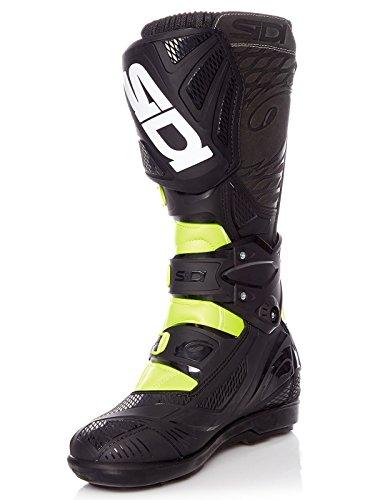 Sidi Botas MX X3-Xtreme SRS Amarillo Fluorescent-Negro (EU 45/US 11, Amarillo)