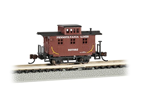 Bachmann Old-Time Caboose - Pennsylvania LINES - N Scale, Prototypical Brown