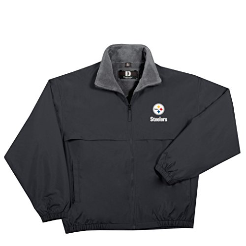 NFL Pittsburgh Steelers  Triumph Fleece Lined Mid Weight Jacket, X-Large, Black (Pittsburgh Steelers Rain)